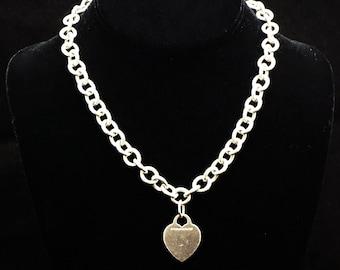 ca97e0355 Classic Tiffany Co. Sterling Silver Heart Tag Pendant & Necklace