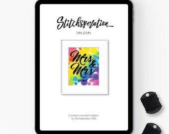 Mrs & Mrs - Modern Cross Stitch PDF