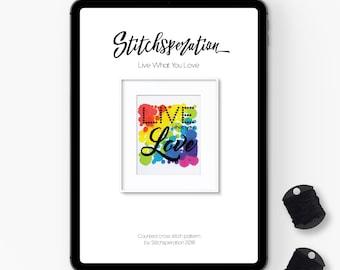 Live What You Love - Modern Cross Stitch PDF
