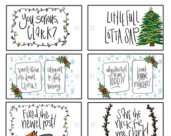 christmas vacation movie quotes christmas gift tags printable file instant download national lampoons