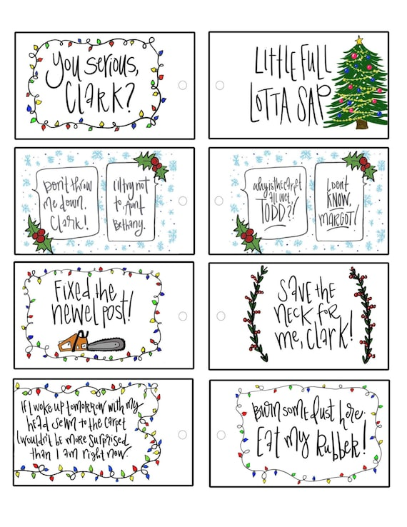 Christmas Vacation Movie Quotes Christmas Gift Tags