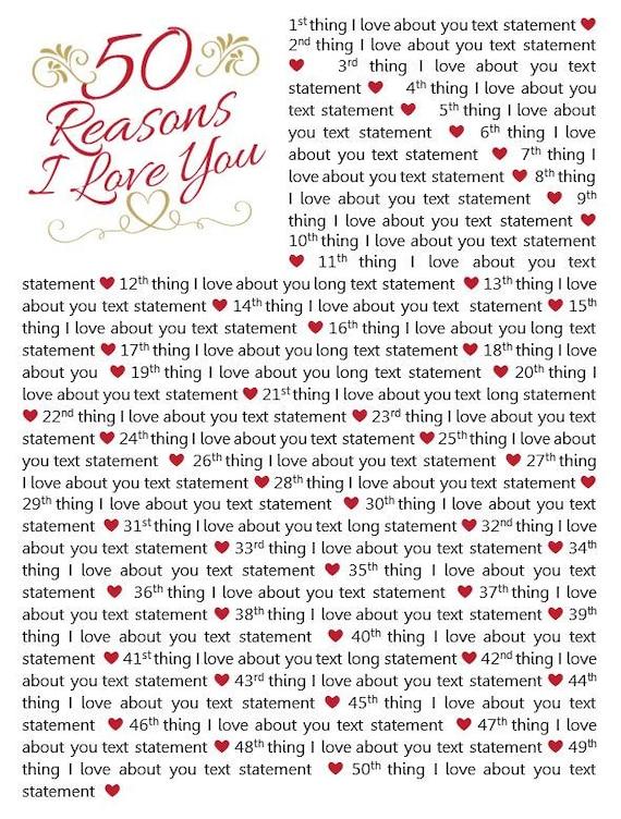 Why love reasons you i 101 Reasons