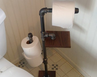 Toilet Paper Holder : Toilet paper holder stand etsy