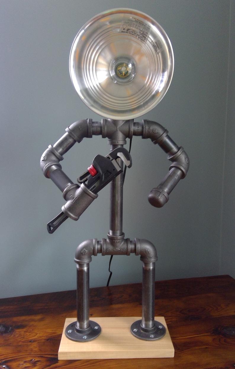 Men of Steel Plumber Pipe Lamp