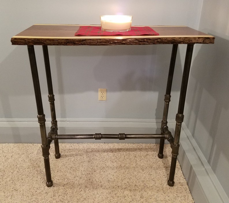 Charmant Bar Height Table, Walnut Table, Stand Up Desk, Live Edge Wood Table,