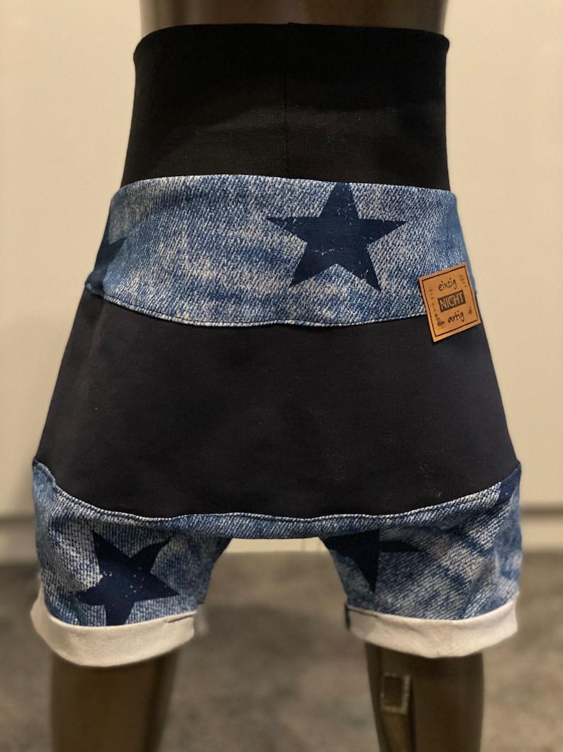 Summer Baggy Pants Pants Short Boys Jeans Star Baby Clothes Kids Clothes Dark Blue