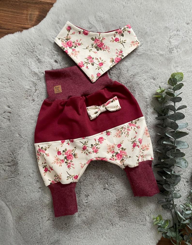 Pump Pants Mitwachshose Pants Babygirl Girls Roses Baby Clothes Kids Clothes