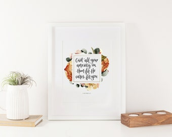 Gifts for Home | Scripture Wall Art | Christian Gifts | Christian Prints | Christian Wall Art | Home Decor | Make Today Beautiful
