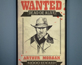 90df86e8316 Wanted Poster of Arthur Morgan From Red Dead Redempton 2
