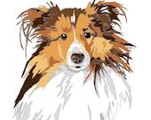 Personalized Paint By Number Pet Portrait Kit 8x10