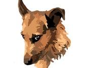 Custom Dog Portrait Paint By Number Kit 8x10