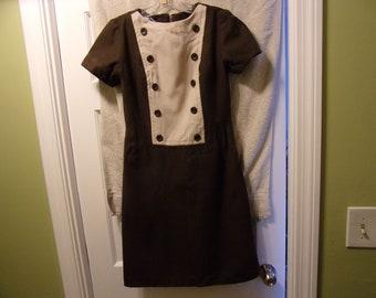 Small Like New 60s Sue Brett Dress /& Vest Jacket