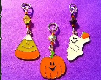 Hearing Aid Charms:  Super Fun Halloween Collection with Glass and Czech Glass Accent Beads!