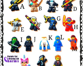 Hearing Aid Tube Trinkets or Cochlear Cuties: Ninjas and Other Fun Characters!  Please select quantity 2 for a pair!