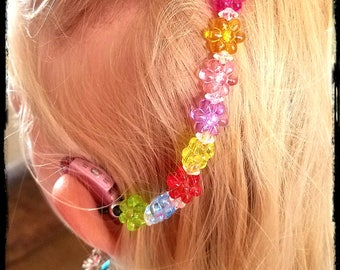 Rockin Aid Retainers: Delightful Daisies in Random Rainbow Colors!  Please select quantity 2 for a pair!