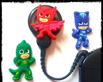 Cochlear Cuties or Hearing Aid Tube Trinkets:  PJ Masks Inspired Cartoon Characters!  Please select quantity 2 for a pair!