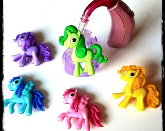Hearing Aid Tube Trinkets: Bright and Cute Little Ponies!  Please select quantity 2 for a pair!