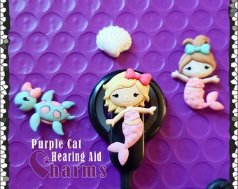 Cochlear Cuties or Hearing Aid Tube Trinkets:  Mermaid and Ocean Collection!  Please select quantity 2 for a pair!