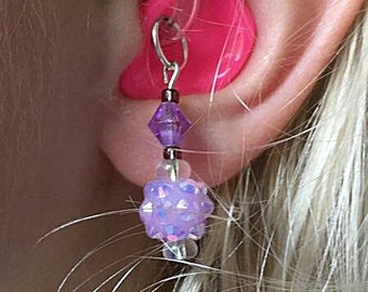 Hearing Aid Charms: Darling Disco Balls!  Also available in earrings  (peirced or clip ons) and Matching Mother Daughter Set!