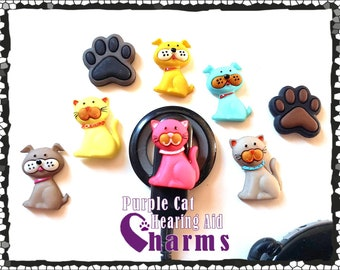 Cochlear Cuties and Hearing Aid Tube Trinkets:  Cats and Dogs!  Mix or match for more fun!