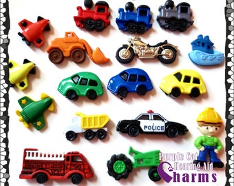 Hearing Aid Tube Trinkets:  Cars, Trains, Planes, Motorcycles, Construction equipment, Tractors! Please select quantity 2 for a pair!