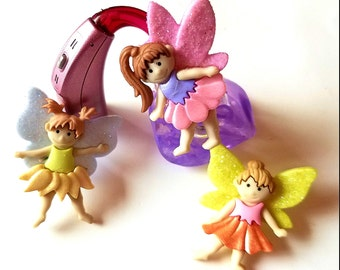 Cochlear Cuties or Tube Trinkets: Glittery Ballerina Fairies!  Select Quantity 2 for a pair!
