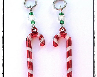 Hearing Aid Charms:  Candy Canes  (also available in a matching Mother Daughter Set )!