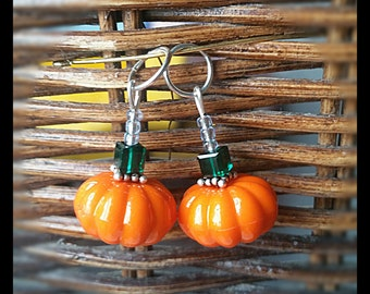 Hearing Aid Charms: Fall Pumpkins (also available in a matching Mother Daughter Set )