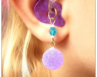 Hearing Aid Charms:  Sugar Sweet Acrylic Gum Drops with Glass and Czech Glass Accent Beads!