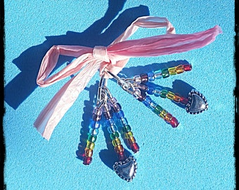 Hearing Aid Charms! Rainbow Dangles!  (Also available in a matching Mother Daughter Set )