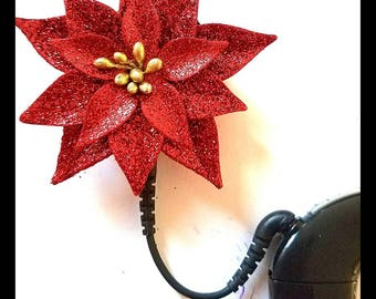 Cochlear Cuties: Christmas Poinsettia Blossoms!  Please select quantity 2 for a pair!