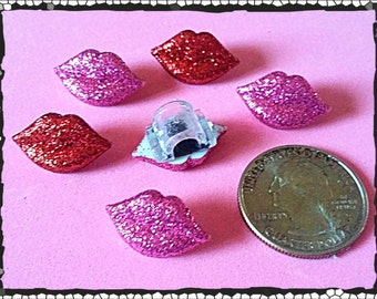 Tube Trinkets:  Glittery Pink or Red Lips (select quantity 2 for a pair)!