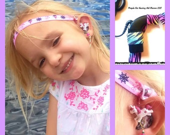 Adjustable HearBands: Athletic Hearing Aid and Cochlear Implant Headband Rockin Aid Retainers!  Non slip hearing aid grip!