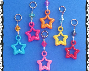 Hearing Aid Charms: Super Stars with Glass Accent Beads!