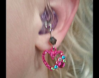 Hearing Aid Charms: Multi-Colored Rhinestone Hearts!