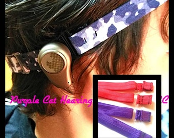 BAHA Adjustable Athletic Hear-bands! Baha hearing aid headbands bone anchored hearing BAHA soft band Rockin Aid Retainer One size fits all!!