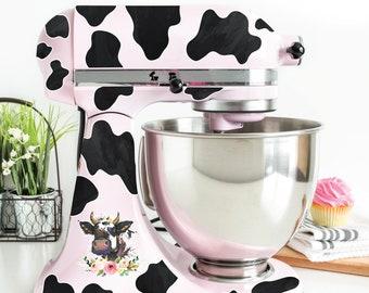 Cow Print Kitchen Mixer Set Decal Vinyl Sticker Skin Home Decor