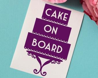 Cake On Board Vinyl Car Decal, Cake Decorator