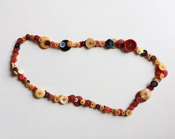 Button Necklace - Rust Colourway