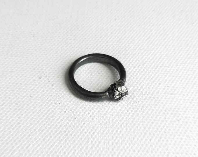 Interstellar Object - sterling silver ring