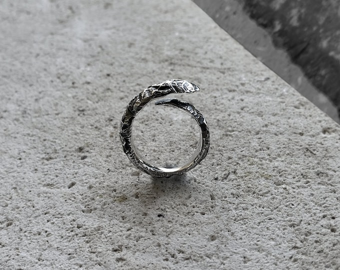 Charred - Sterling silver ring