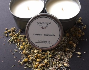 Lavender Chamomile Handcrafted Natural Soy Wax Candles