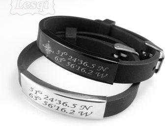 Custom rubber bracelet | Etsy