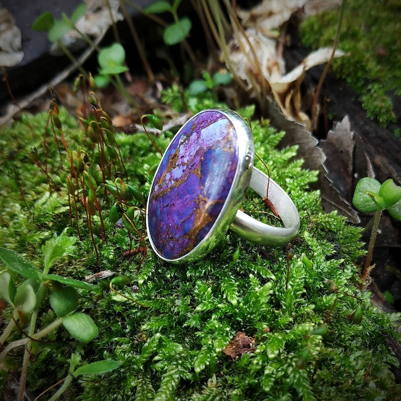 Mojave turquoise sterling and fine silver ring