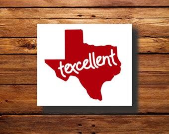 Texas Decal | #DFR0057 | Vinyl | Texcellent | Car Decal | Pride | Oracal 651