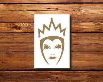 Evil Queen Decal | #DFR0055 | Halloween Witch vinyl decal | Oracal 651