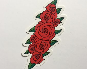 c2384bdc0566 Rose Lightning Bolt Sticker - Grateful Dead inspired