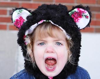 64708ff1e4a Black bear fur hat