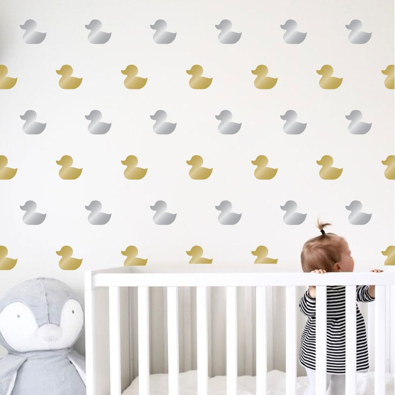 Set of Duck wall decals set stickers Confetti Sizes and Quantites available Multiple Colors