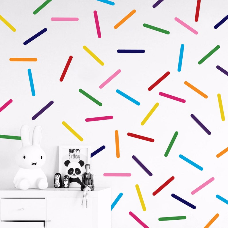 Set of 60 Colourful Sprinkles Wall Decals - Confetti Wall Decals - Stickers  - 30 different colors available